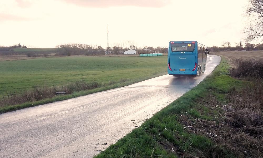 Bus på vej til Grønbjerg.
