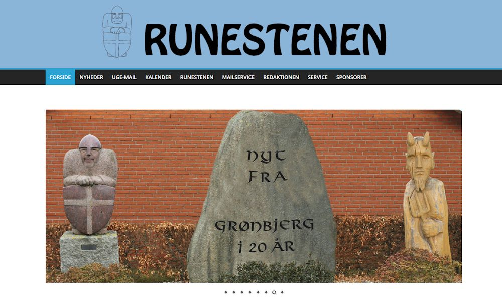 Runestenen i Grønbjerg.